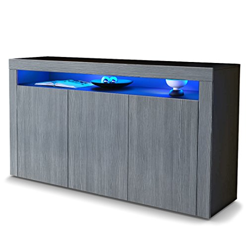 sideboard kommode valencia in schwarz matt avola. Black Bedroom Furniture Sets. Home Design Ideas