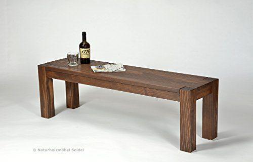 Sitzbank ,,Rio Bonito,, 140x38cm, Bank Massivholz Pinie, geölt und gewachst, Farbton Cognac braun, Optional: passende Tische
