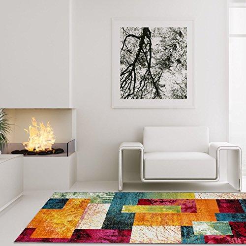 teppich modern designer wohnzimmer schafzimmer esprit patchwork bunt gr e in cm 80 x 150 cm. Black Bedroom Furniture Sets. Home Design Ideas
