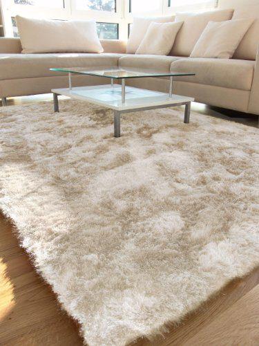 benuta Teppiche: Shaggy Langflor Hochflor Teppich Whisper Beige 120x170 cm - schadstofffrei - 100% Polyester - Uni - Handgetufted - Wohnzimmer