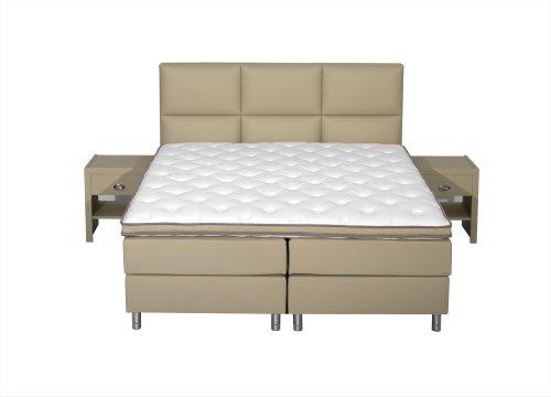 boxspringbett schwarzwald mit kopfteil 4 ruby inkl 7 zonen taschenfederkernmatratze und. Black Bedroom Furniture Sets. Home Design Ideas