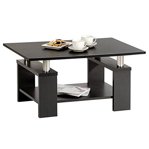 couchtisch beistelltisch wohnzimmertisch percy schwarz mit ablage gr e 90 x 44 5 x 60 cm b x. Black Bedroom Furniture Sets. Home Design Ideas