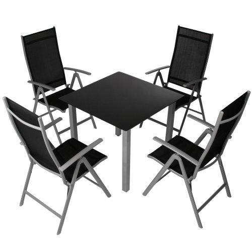 miadomodo 5 teilige sitzgarnitur gartenm bel garnitur aus. Black Bedroom Furniture Sets. Home Design Ideas