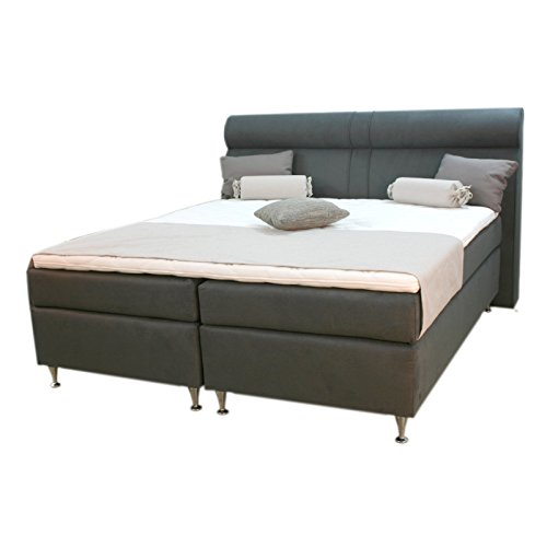 roller boxspringbett turin graubraun taschenfederkern 180 200 cm m bel24 xxl m bel. Black Bedroom Furniture Sets. Home Design Ideas