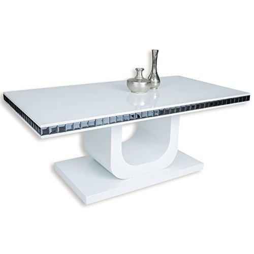 roller couchtisch livian wei hochglanz 111 cm m bel24. Black Bedroom Furniture Sets. Home Design Ideas