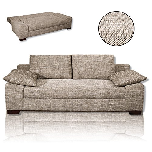 roller schlafsofa beige federkern m bel24. Black Bedroom Furniture Sets. Home Design Ideas