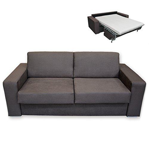 roller schlafsofa braun mit matratze dauerschl fer. Black Bedroom Furniture Sets. Home Design Ideas