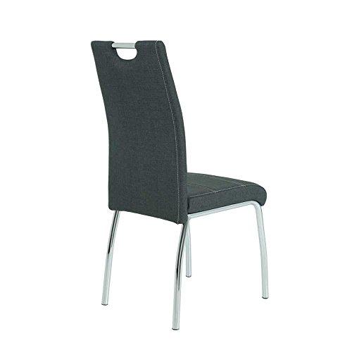 Esstisch mit Stühlen in Weiß Hochglanz Rot Anthrazit (5-teilig) Pharao24
