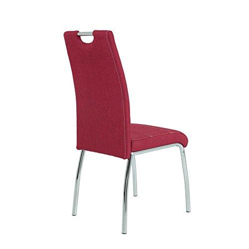 esstisch mit st hlen in wei hochglanz rot anthrazit 5 teilig pharao24 m bel24. Black Bedroom Furniture Sets. Home Design Ideas