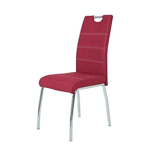 esszimmer sitzgruppe in wei hochglanz rot anthrazit 5 teilig pharao24 m bel24. Black Bedroom Furniture Sets. Home Design Ideas