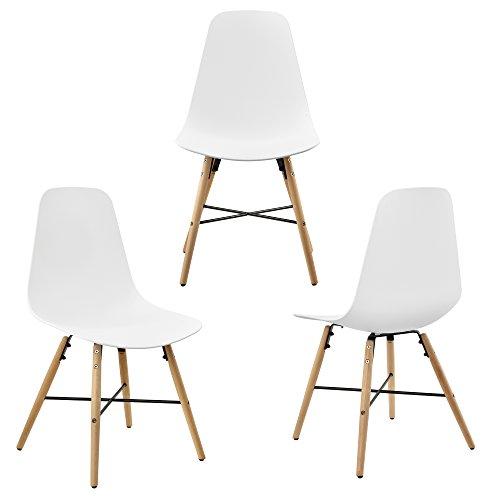 esstisch rund 80cm mit 3 design st hlen sitzgruppe in retro look wei m bel24. Black Bedroom Furniture Sets. Home Design Ideas