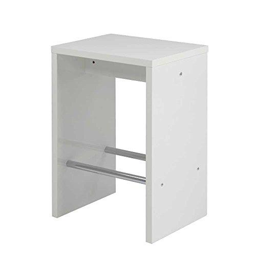 bartisch set in wei hochglanz schwarz 3 teilig pharao24 3 m bel24. Black Bedroom Furniture Sets. Home Design Ideas