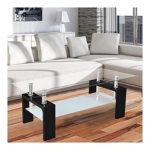 corium couchtisch wohnzimmertisch 110 x 60 x 45 cm glasplatte schwarz tisch glastisch. Black Bedroom Furniture Sets. Home Design Ideas
