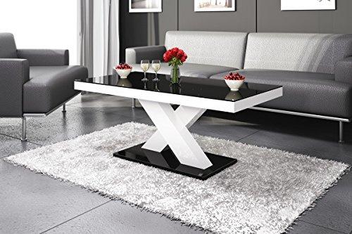 couchtisch wei hochglanz mit glasplatte sera 120x70cm glastisch m bel24. Black Bedroom Furniture Sets. Home Design Ideas
