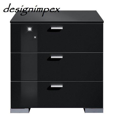 design nachtkonsole nachtkommode nachttisch boxspringbett boxspring a 2 schwarz hochglanz m bel24. Black Bedroom Furniture Sets. Home Design Ideas