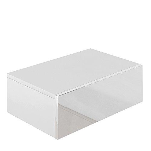 Nachttisch Kommode Nachtschrank Schublade Ablage Schrank Schlafzimmer Weiß Hochglanz