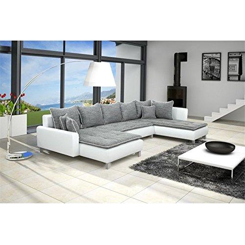 sofa polsterecke vivara wei strukturstoff grau ecksofa