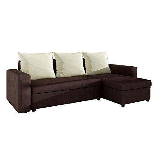 ecksofa top sofa eckcouch couch mit schlaffunktion und zwei bettkasten ottomane universal l. Black Bedroom Furniture Sets. Home Design Ideas