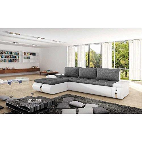 justhome linea ecksofa polsterecke schlafsofa kunstwildleder kunstleder gro e farbauswahl. Black Bedroom Furniture Sets. Home Design Ideas