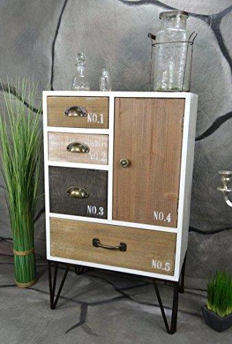 Livitat® Sideboard Retro Schrank Vintage Kommode Industrie Loft Design LV5041