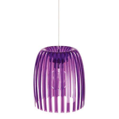 Koziol 1930549Hängelampe Pendelleuchte Josephine M aus Polycarbonat facettiert violett transparent