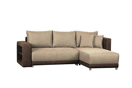 polsterecke in l form ohne federkern corona molly wohnlandschaft mit schlaffunktion und. Black Bedroom Furniture Sets. Home Design Ideas
