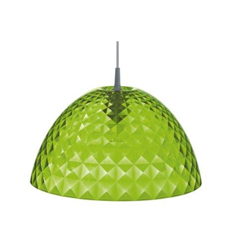 koziol Pendelleuchte Stella M, Kunststoff, transparent grün, 43,5 x 43,5 x 23,6 cm