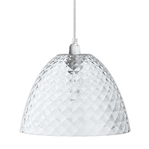 koziol Pendelleuchte Stella S , Kunststoff, transparent klar, 25,5 x 25,5 x 17,5 cm