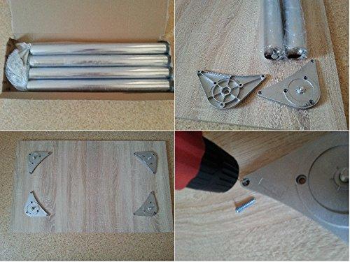 design esstisch k chentisch bistrotisch wenge mit chromfu 100x60 2 st hle silber xxl m bel. Black Bedroom Furniture Sets. Home Design Ideas