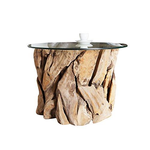 Invicta interior ciano design beistelltisch tablett tisch for Design couchtisch nature lounge teakholz mit runder glasplatte beistelltisch