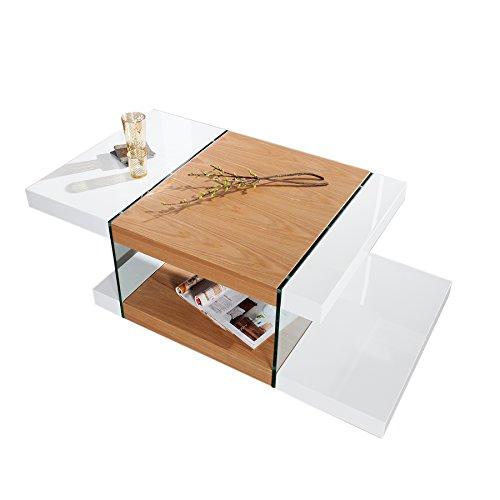 design glas couchtisch onyx weiss hochglanz eiche 110 cm m bel24. Black Bedroom Furniture Sets. Home Design Ideas
