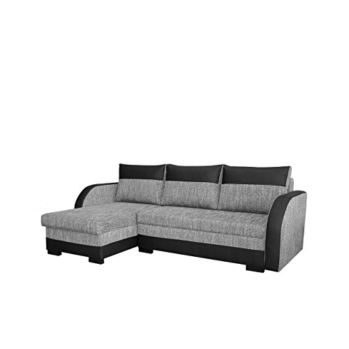 elegante ecksofa joseph eckcouch mit bettkasten und schlaffunktion inkl kissen set. Black Bedroom Furniture Sets. Home Design Ideas
