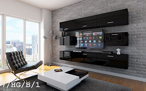 future 7 wohnwand anbauwand wand schrank tv schrank m bel wohnzimmer wohnzimmerschrank hochglanz. Black Bedroom Furniture Sets. Home Design Ideas