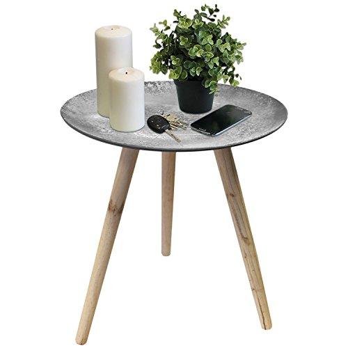 lagerr umung beistelltisch rund 44x46cm beton optik couchtisch blumentisch sofatisch. Black Bedroom Furniture Sets. Home Design Ideas