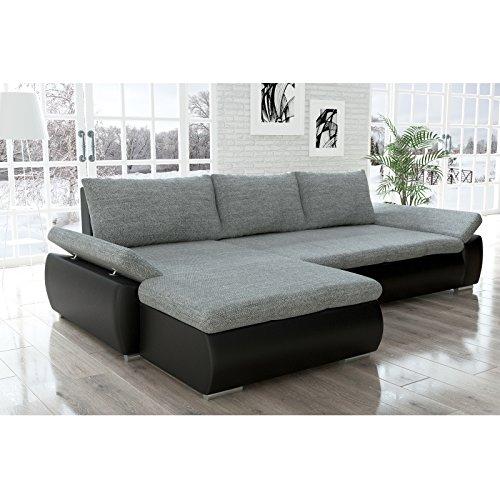 sofa polsterecke kreta schwarz strukturstoff grau. Black Bedroom Furniture Sets. Home Design Ideas