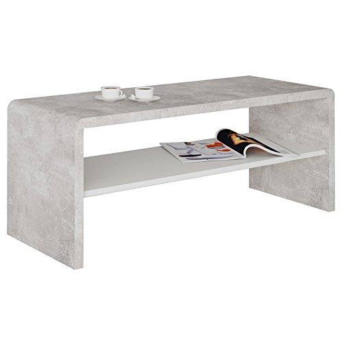 Tv lowboard couchtisch fernsehtisch lenni in betonoptik for Couchtisch in betonoptik