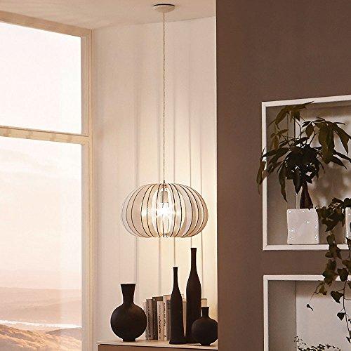 licht trend rift l pendelleuchte mit holzschirm 45 cm weiss xxl m bel m bel24. Black Bedroom Furniture Sets. Home Design Ideas