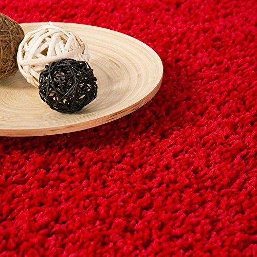 Prime Shaggy Farbe Rot Teppich Hochflor Langflor Teppiche Modern für Wohnzimmer Schlafzimmer ...