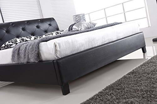 designer bett barock modern 78 doppelbett 160cm x 200cm schwarz xxl m bel m bel24. Black Bedroom Furniture Sets. Home Design Ideas