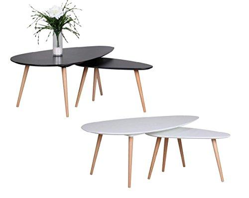 finebuy retro couchtisch 2 teilig mdf matt xxl m bel m bel24. Black Bedroom Furniture Sets. Home Design Ideas