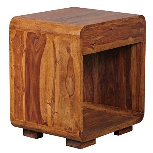 nachttisch massiv holz sheesham design nachtkommode 55 cm. Black Bedroom Furniture Sets. Home Design Ideas