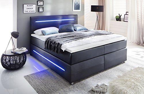 sette notti boxspringbett mit led beleuchtung 180x200 h3. Black Bedroom Furniture Sets. Home Design Ideas