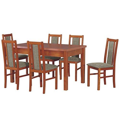 essgruppe mit 6 st hlen dm 31 esstisch stuhlset. Black Bedroom Furniture Sets. Home Design Ideas