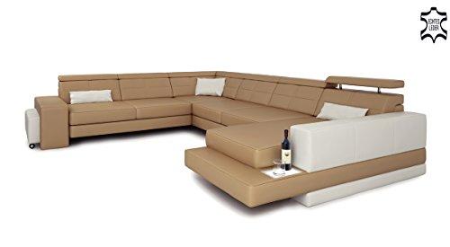 ledersofa xxl wohnlandschaft leder eck sofa couch. Black Bedroom Furniture Sets. Home Design Ideas
