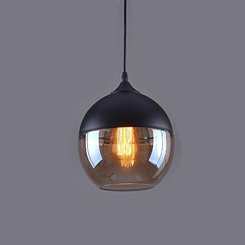 Weare Home Retro Kugel Durchsichtiger Glas Lampenschirm