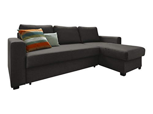 atlantic home collection schlafsofa stoff anthrazit 150 x 234 x 89 cm m bel24. Black Bedroom Furniture Sets. Home Design Ideas