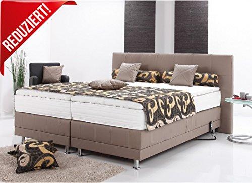 boxspringbett echtlederbett elektrisch mit motor inklusive topper 180x200cm h3 grau m bel24. Black Bedroom Furniture Sets. Home Design Ideas