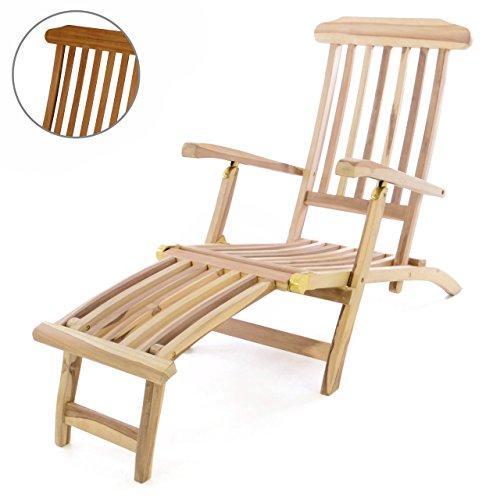 divero liegestuhl deckchair florentine steamer chair mit fu teil teak natur liegestuhl. Black Bedroom Furniture Sets. Home Design Ideas