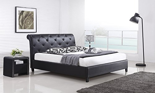 designer bett barock modern 78 doppelbett 160cm x 200cm schwarz m bel24. Black Bedroom Furniture Sets. Home Design Ideas