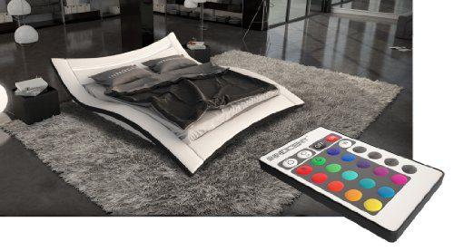 Designerbett Seducce 180 x 200 cm Weiß/Schwarz modernes Design